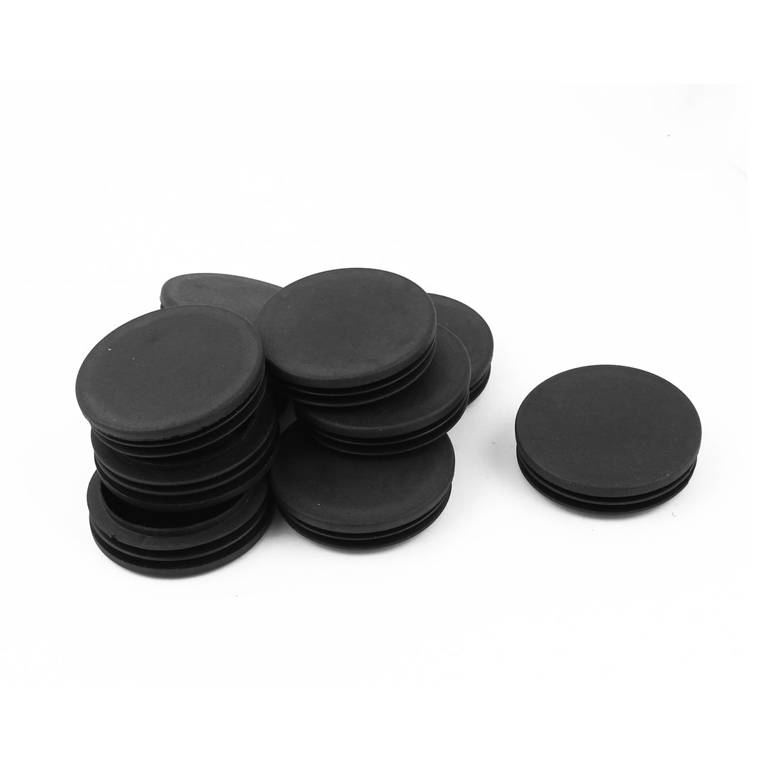 10 Pcs Plastic 60mm Dia Round Tubing Tube Insert Blanking End Caps