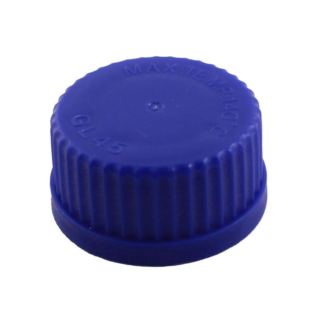 45mm Thread Dia Laboratory Blue Screw Lid Reagent Bottle Container Cap