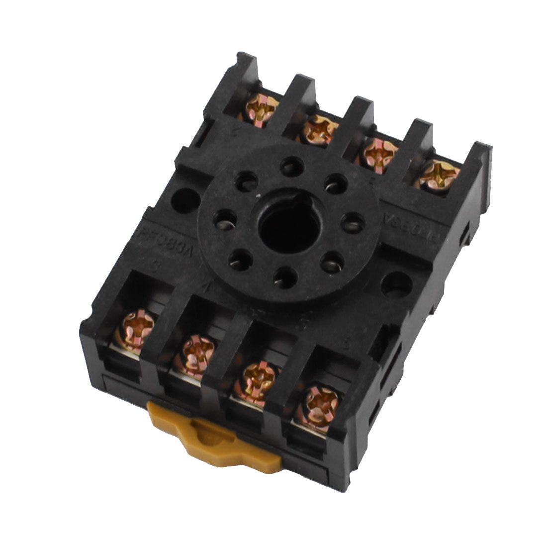 2-M4X20 8 Screw Terminals 35mm DIN Rail Mount Socket Base for Relay
