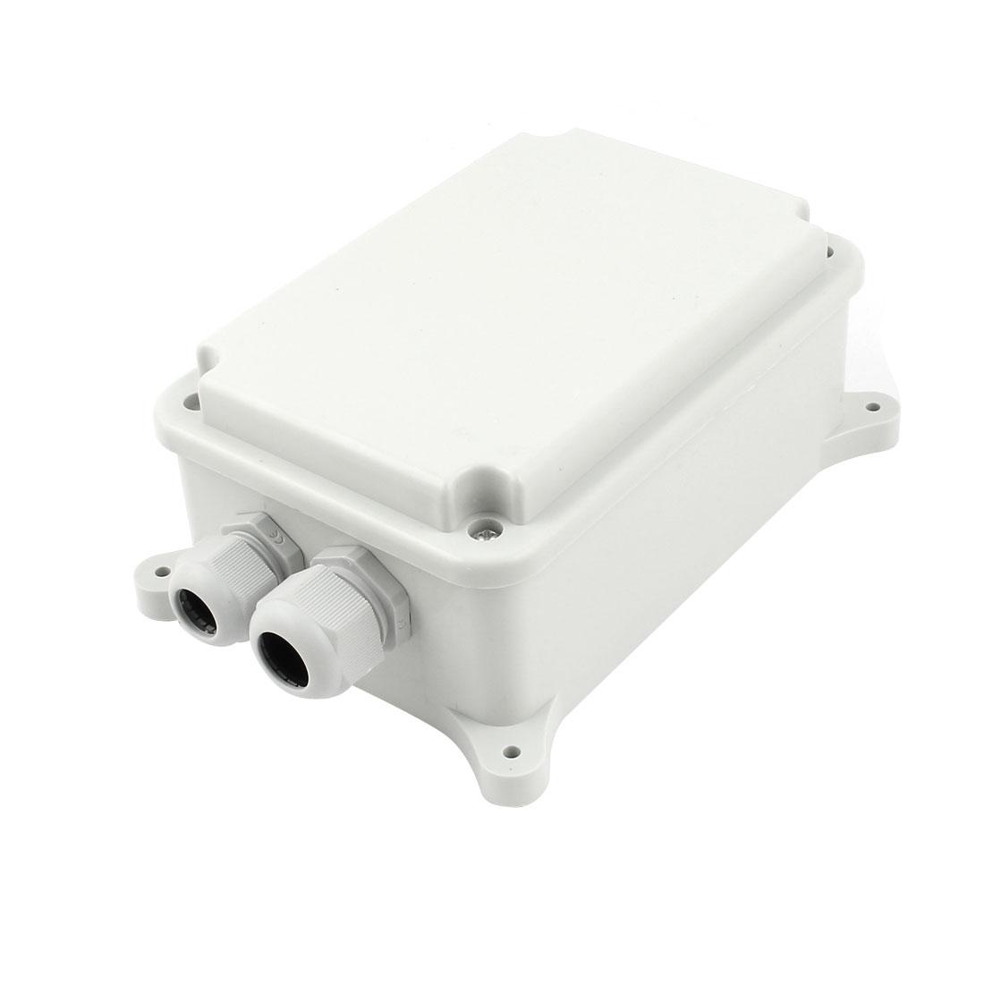 183mm x 132mm x 75mm Waterproof Plastic Rectangle DIY Junction Box Hinged Lid
