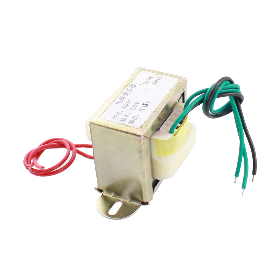 220V 50Hz Input 15V Output Single Phase EI Core Power Transformer