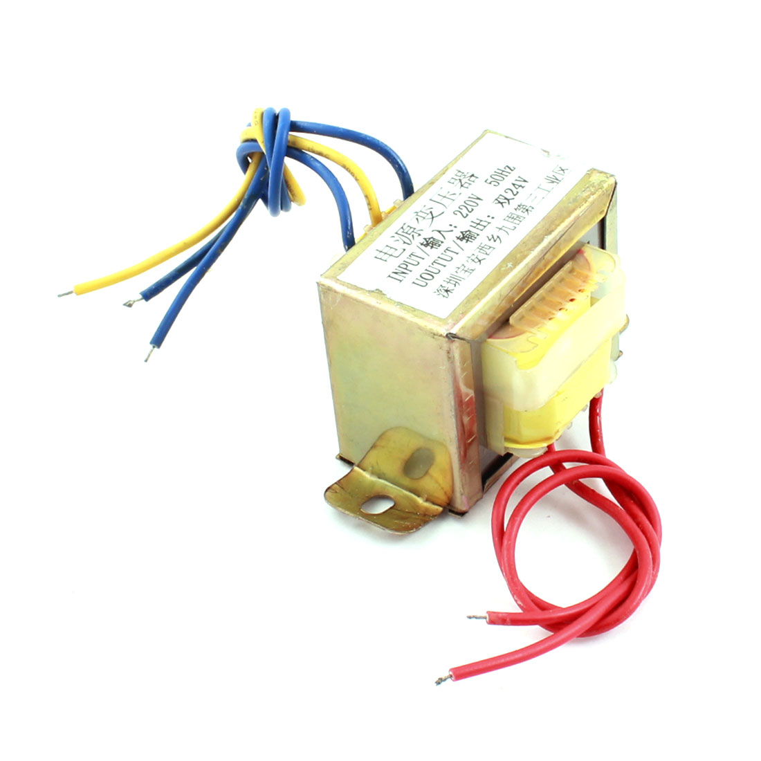 220V 50Hz Input 24V Output Single Phase EI Core Power Transformer