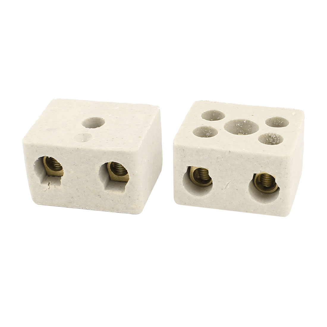 2 Pcs Insulation High Temp Porcelain Ceramic Terminal Block AC 380V 30A