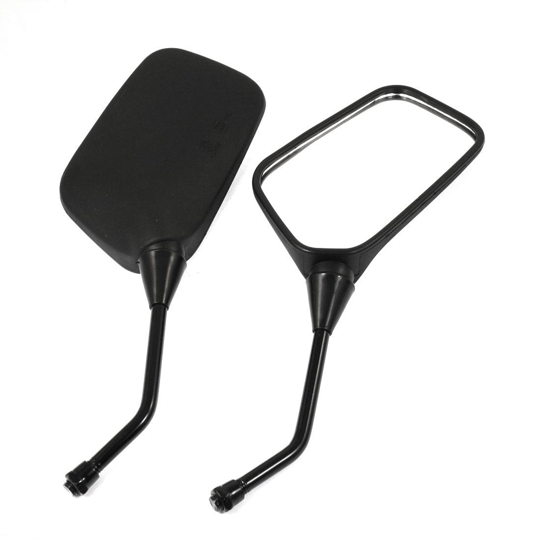 Pair Black Plastic Shell Blind Spot Motorbike Rearview Mirror for Honda CBR