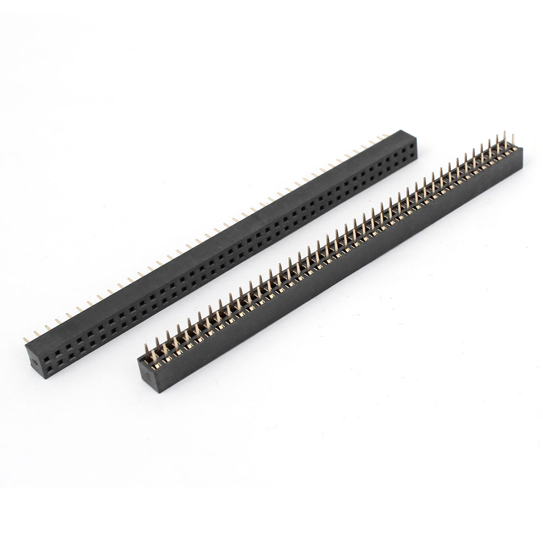 2 Pcs 2x40 2.54mm Pitch Double Rows PCB Pin Socket Headers