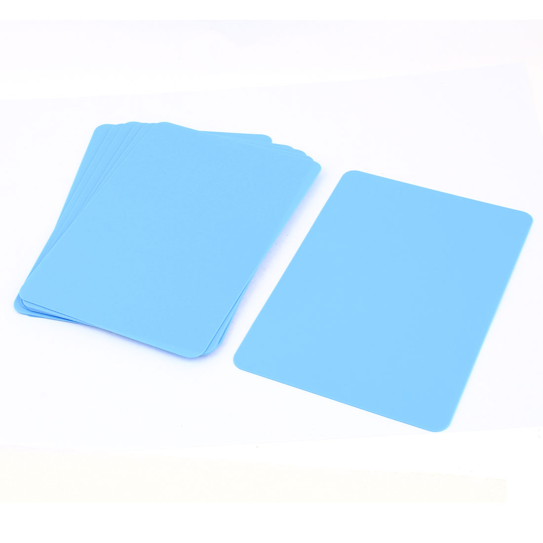 10 Pcs Blue Rectangle Shaped Plastic Paper Writing Boards 172mmx122mm