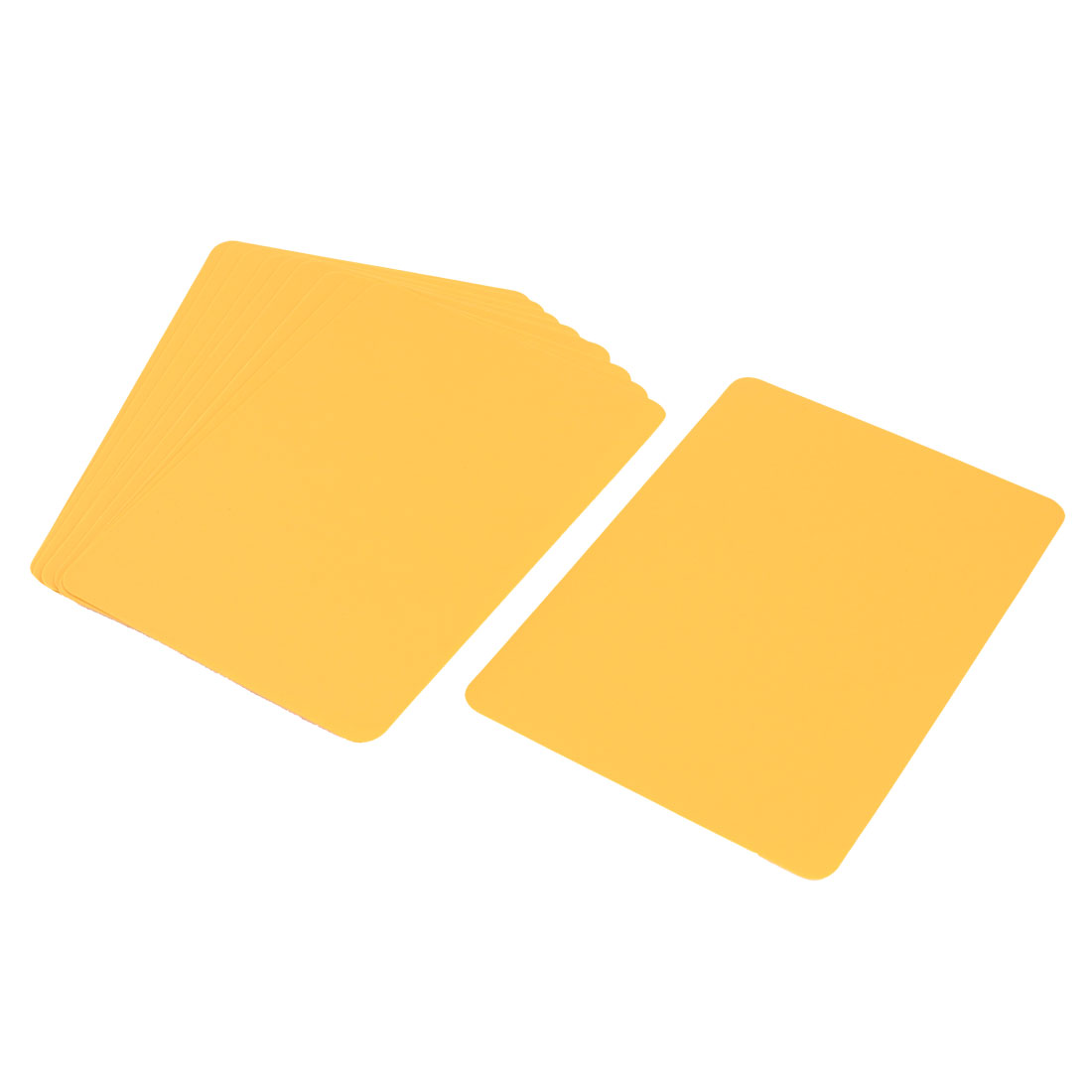 10 Pcs Yellow Rectangle Shaped Plastic Paper Writing Boards 172mmx122mm