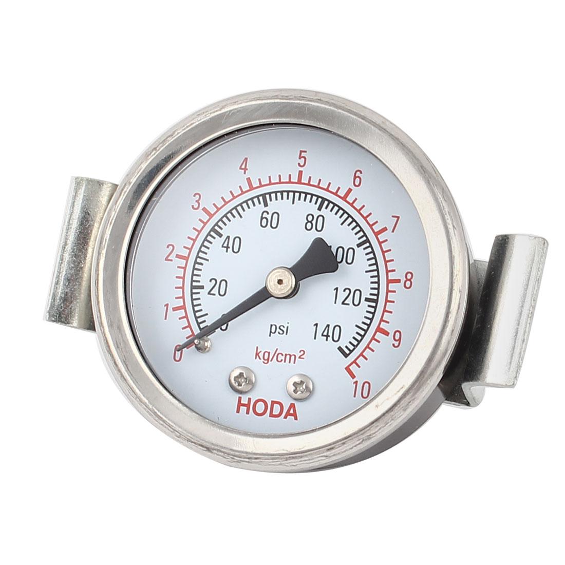 Air Compressor 6.4mm Thread Connector 0-10Kg/cm2 0-140psi Measure Pressure Gauge