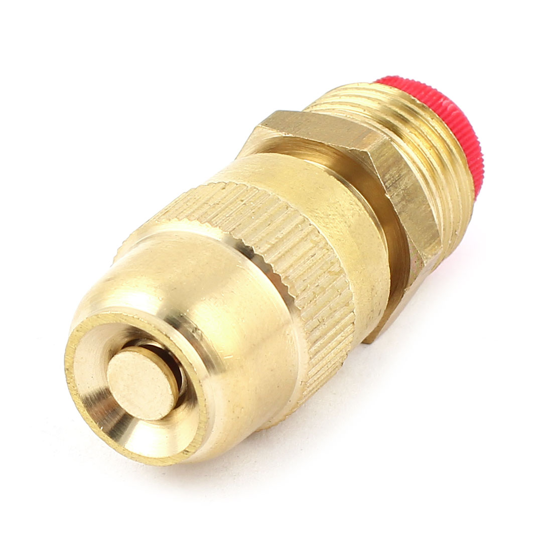 1/2PT Male Threaded Brass Water Hose Spray Nozzle Gold Tone for Gardening