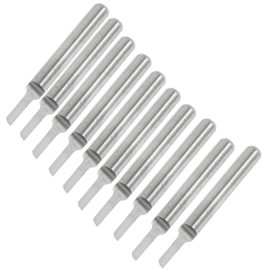 "10 Pcs 1/8"" Shank 1.5mm Blade Width Engraving Straight Router Bits"