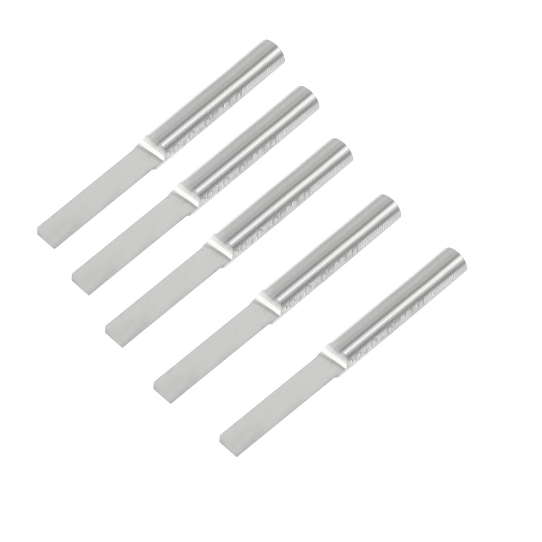 "5 Pcs 5/32"" Shank 4mm Blade Width Single Flute Straight Router Bits"