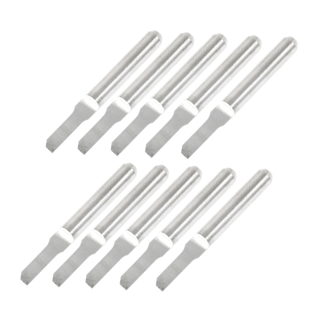 """10 Pcs 1/8"""" Shank 2.5mm Blade Width Engraving Straight Router Bits"""