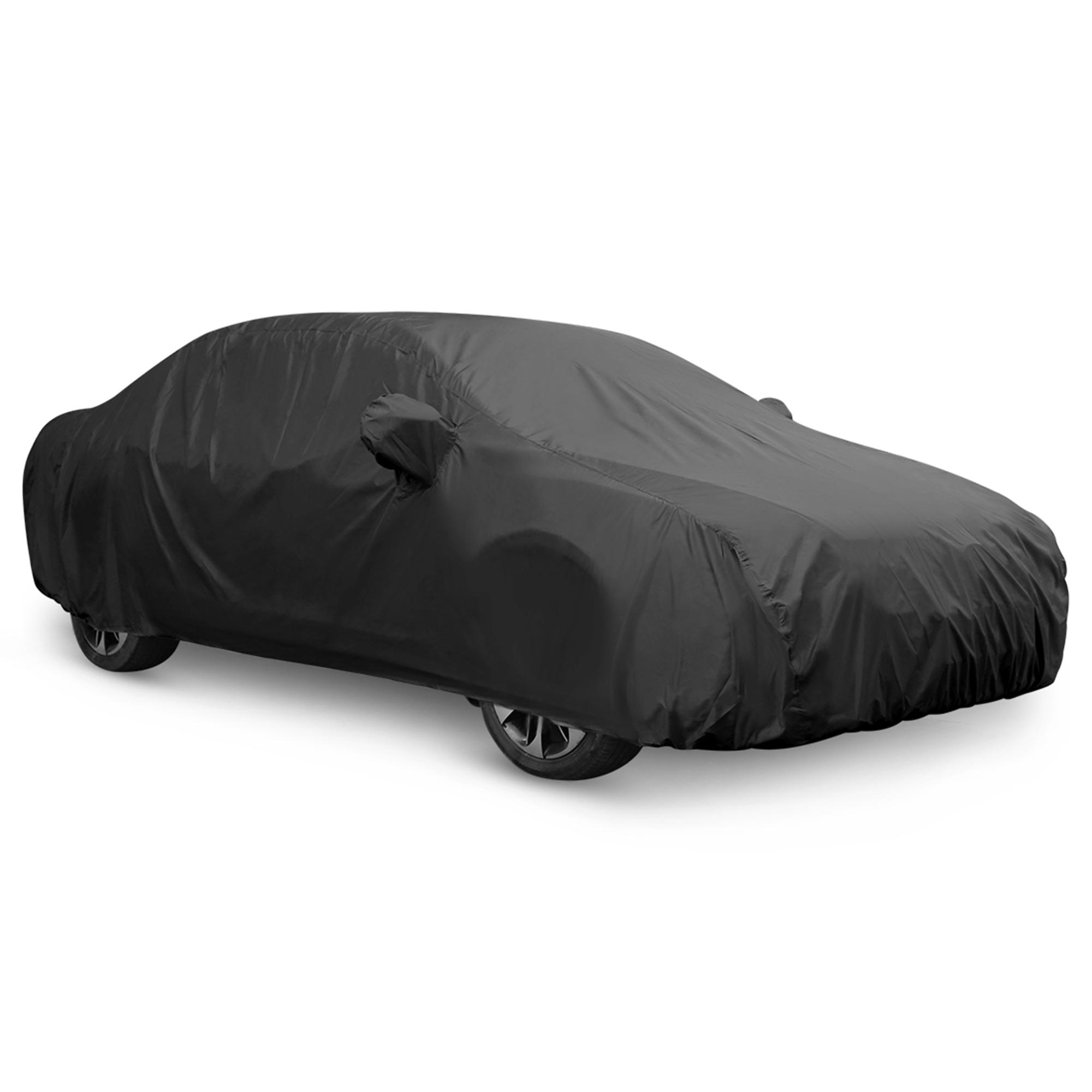 Black Breathable Waterproof Car Cover w Mirror Pocket 3XL