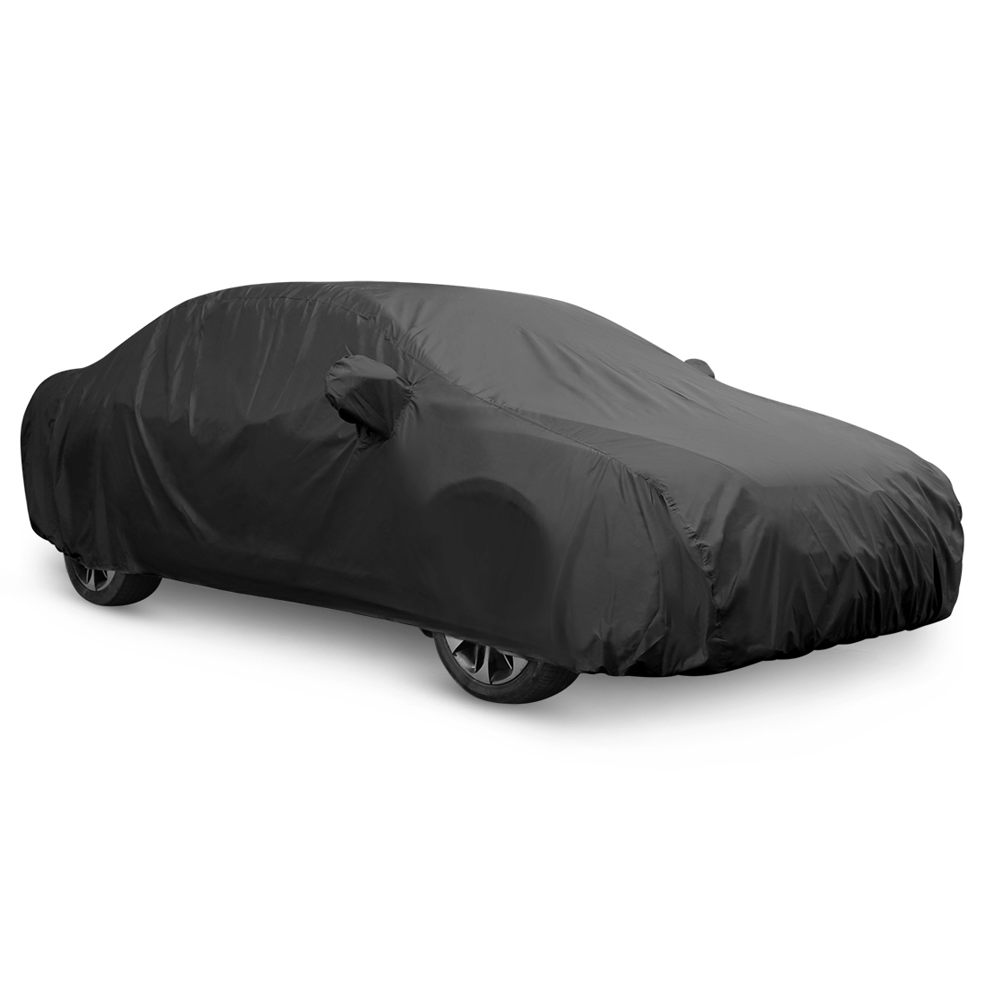 Black Breathable Waterproof Car Cover w Mirror Pocket 3XXL