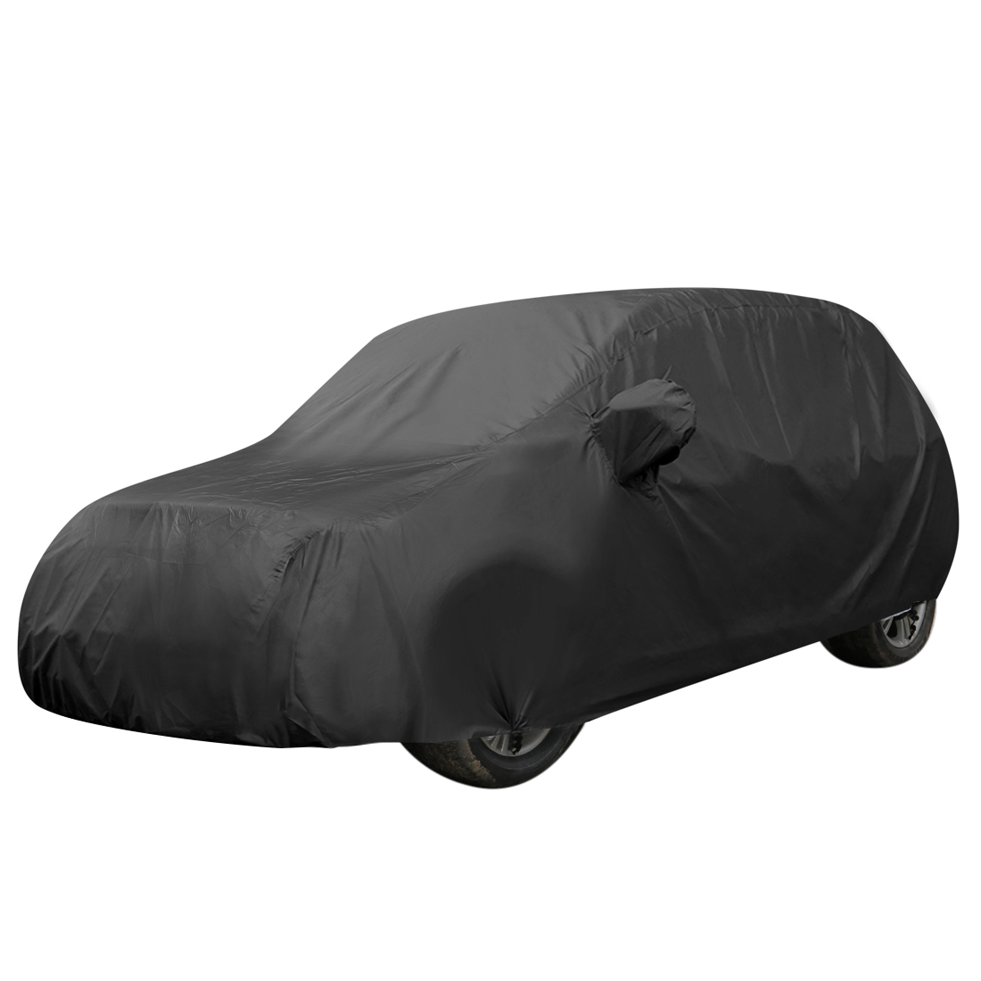 Black Breathable Waterproof Car Cover w Mirror Pocket YL