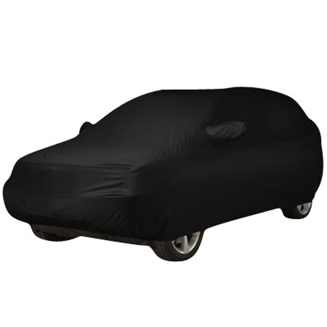 Black Breathable Waterproof Car Cover w Mirror Pocket YXL 5.25