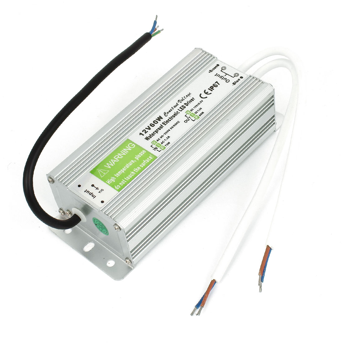 AC 90-250V Input DC12V 60W Output Waterproof LED Strip Power Driver