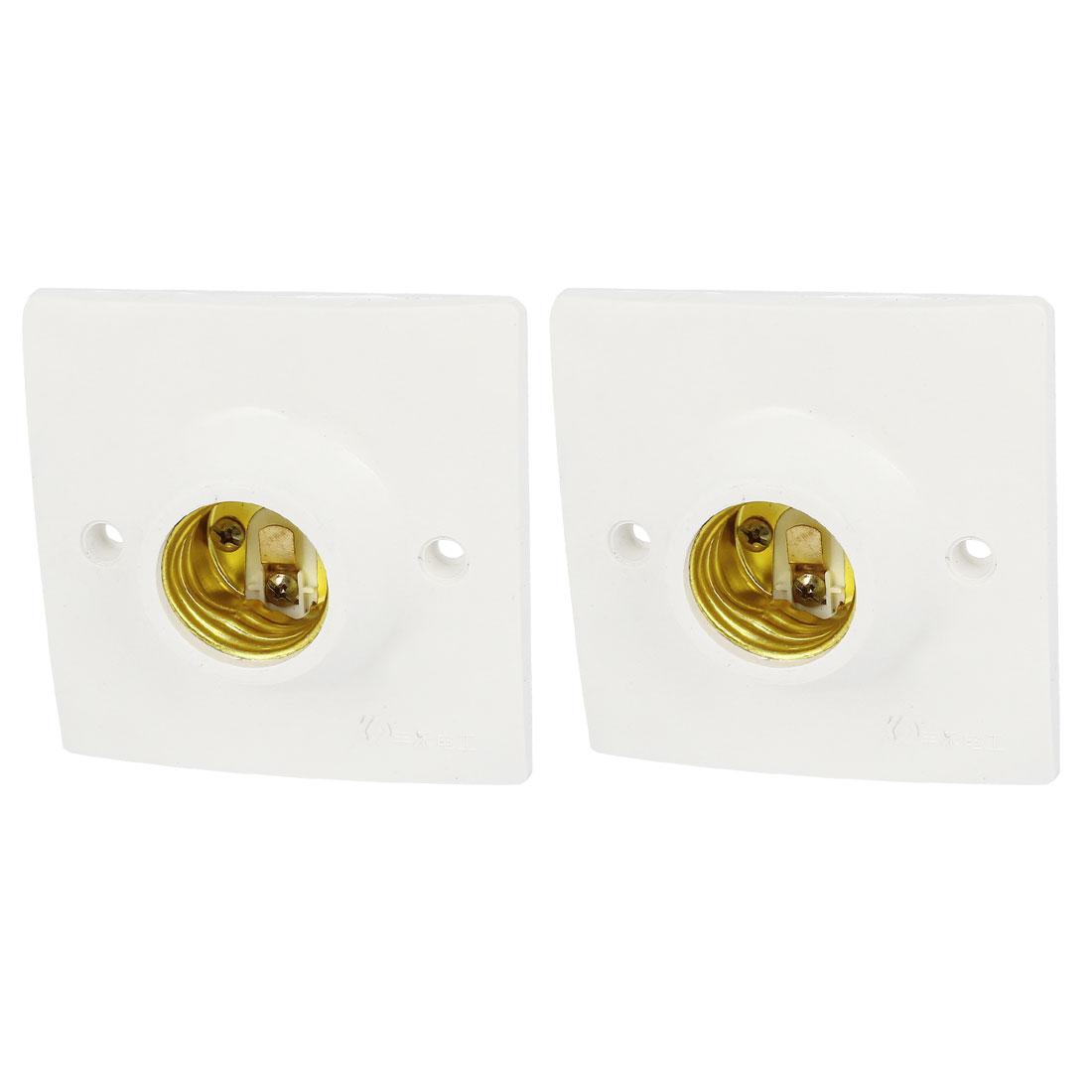 Wall Ceiling E26 Socket LED Halogen CFL Light Lamp Bulb Adapter Holder 2pcs