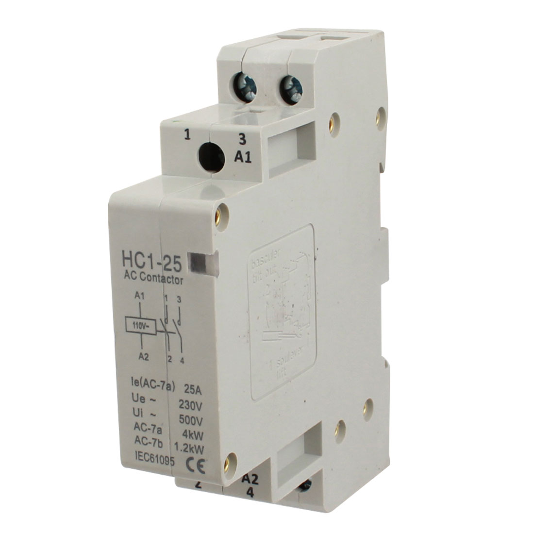 110V Coil Voltage 25A 2 Pole Universal Circuit Control AC Contactor