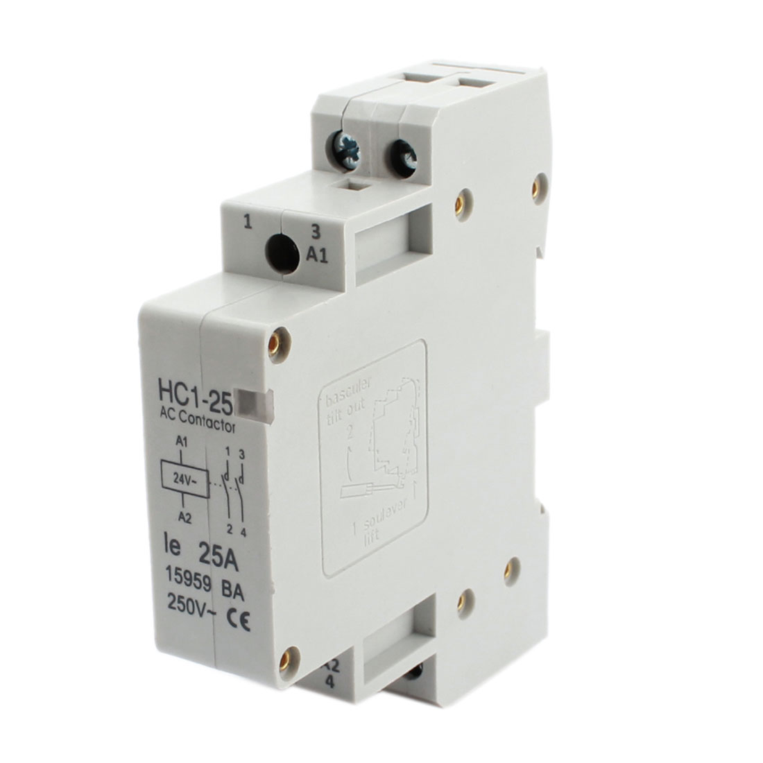 24V Coil Voltage 25A 2 Pole Universal Circuit Control AC Contactor