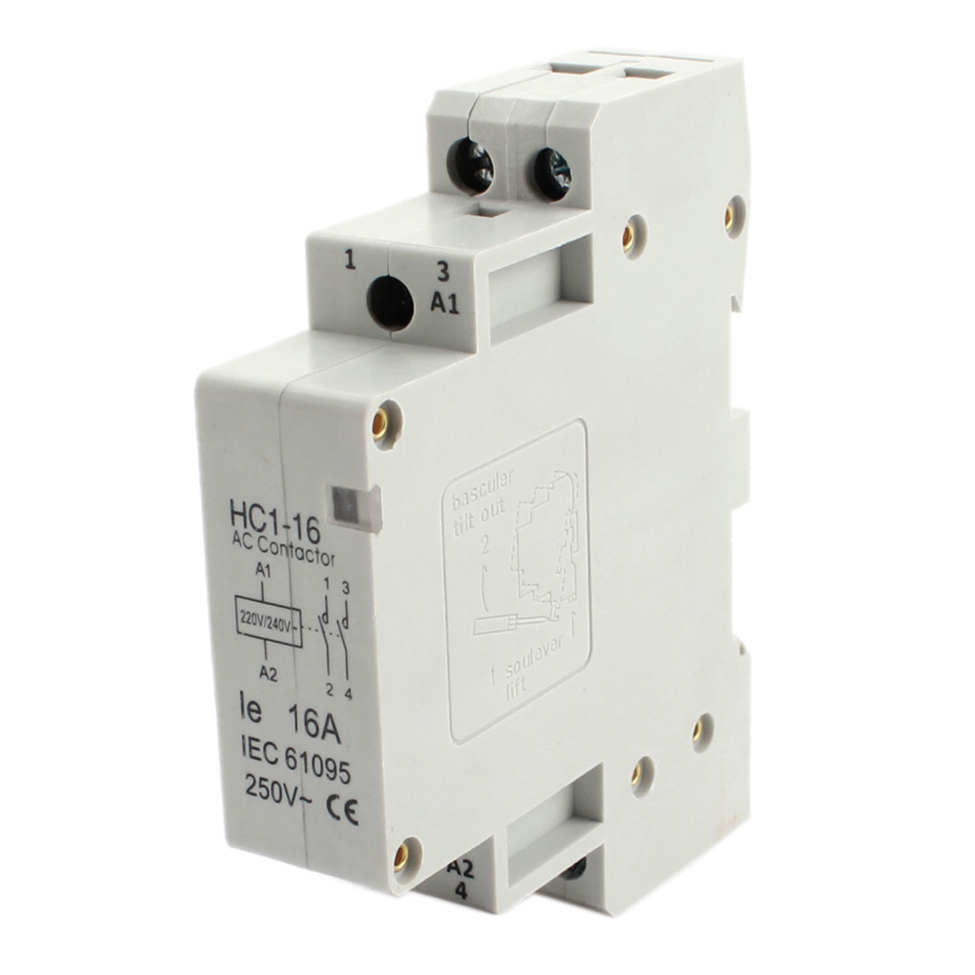 220/240V Coil Volt 16A Double Pole Electric Power AC Contactor Block