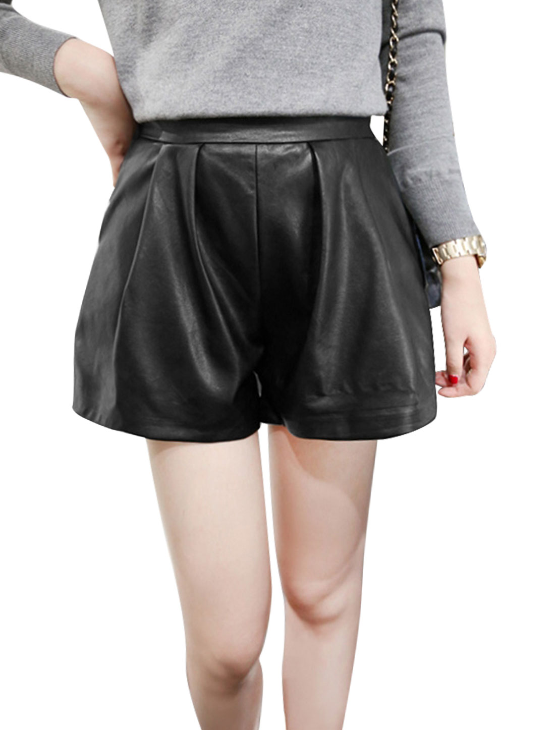 Ladies Elastic Waist Loose Fashion New Style Shorts XS