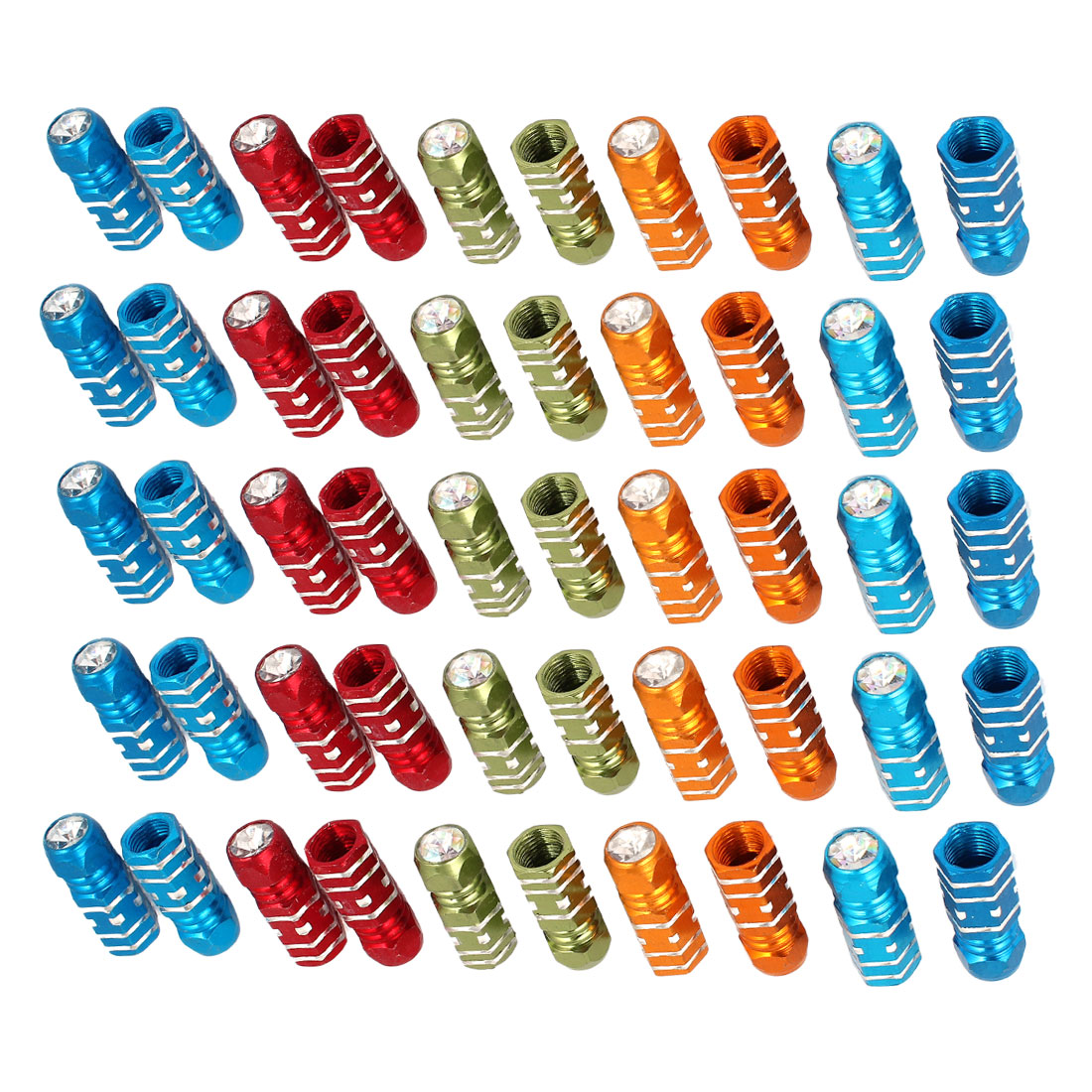 25 Pairs Hexagon Design Tyre Tire Valve Stems Caps Covers Protector for Car