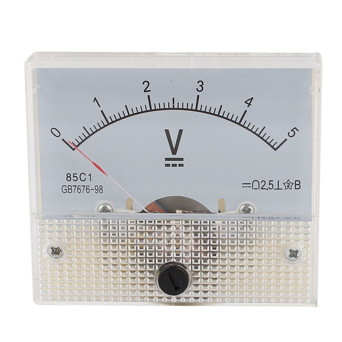 85C1 Class 2.5 AC 0-5V Screw Mounted Voltage Panel Meter Voltmeter