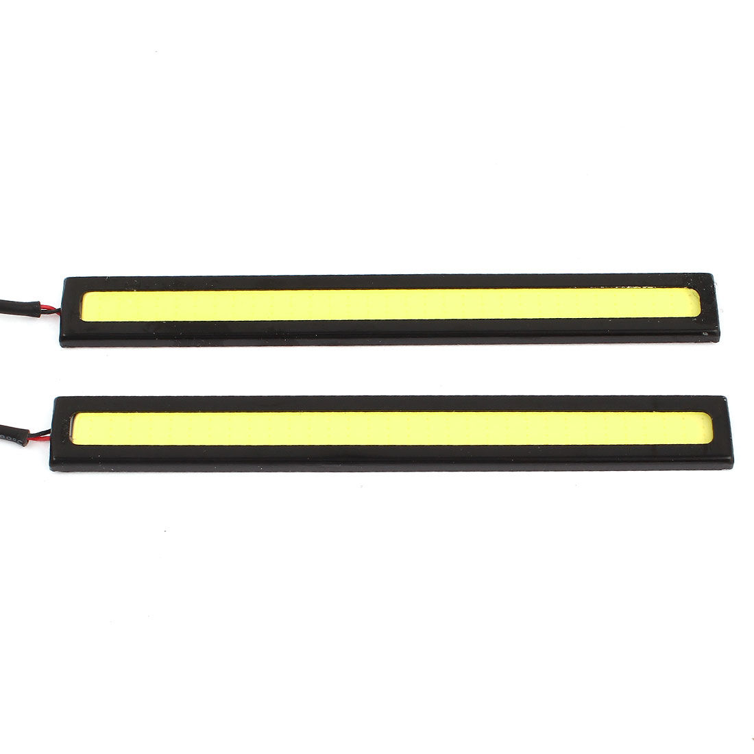 2 Pcs 64 LED COB Black Case Car DRL Driving Daytime Running Light White 14cm