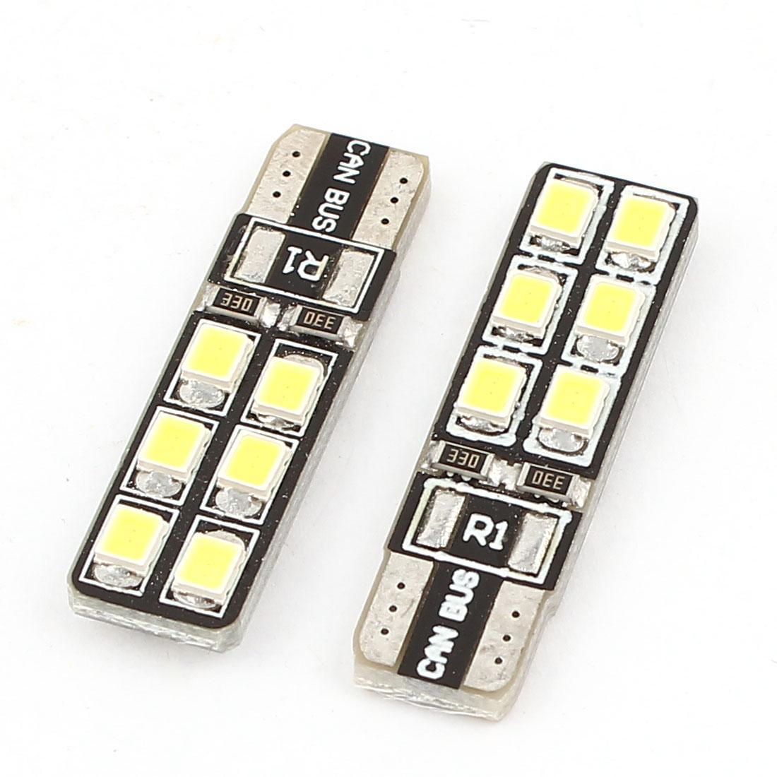 Car T10 194 161 192 W5W White 3528 SMD 12 LED Bulb Wedge Light Lamp Pair Internal