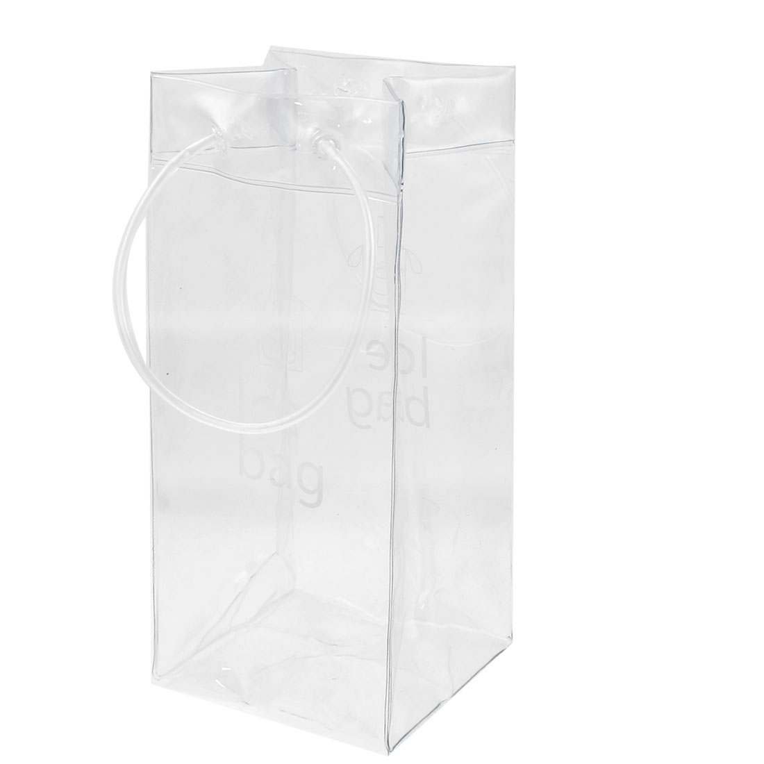 Clear PVC Plastic Ice Bag Champagne Wine Bottle Cooler Ice Freezable Carrier