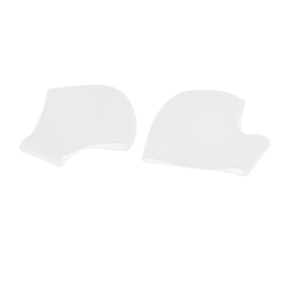 2 Pcs Unisex White Silicone Gel Heel Pain Ease Relief Foot Care Protector