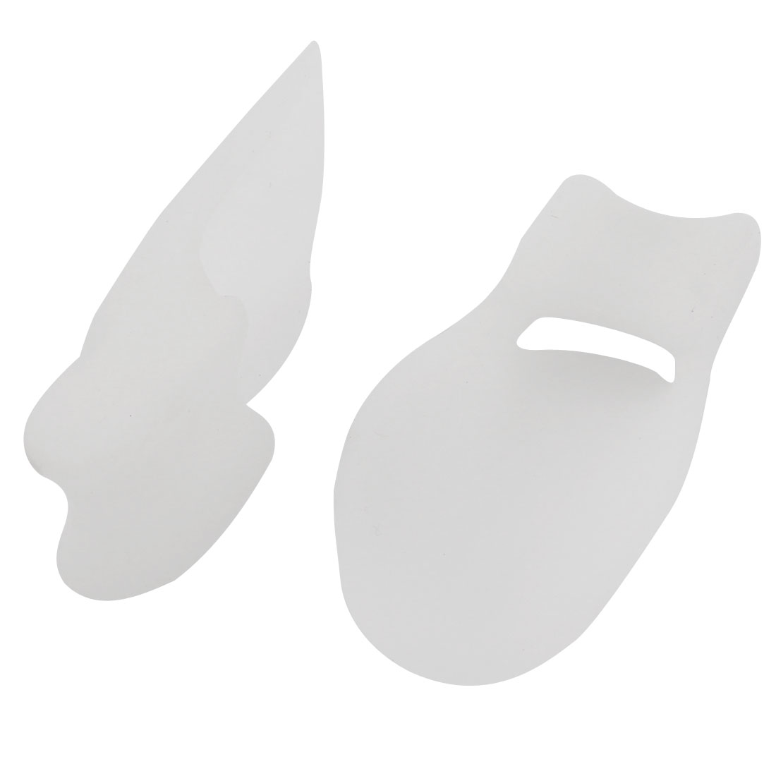 2 Pcs Unisex White Silicone Gel Toe Bunion Spreaders Ease Pain Relief Foot Care
