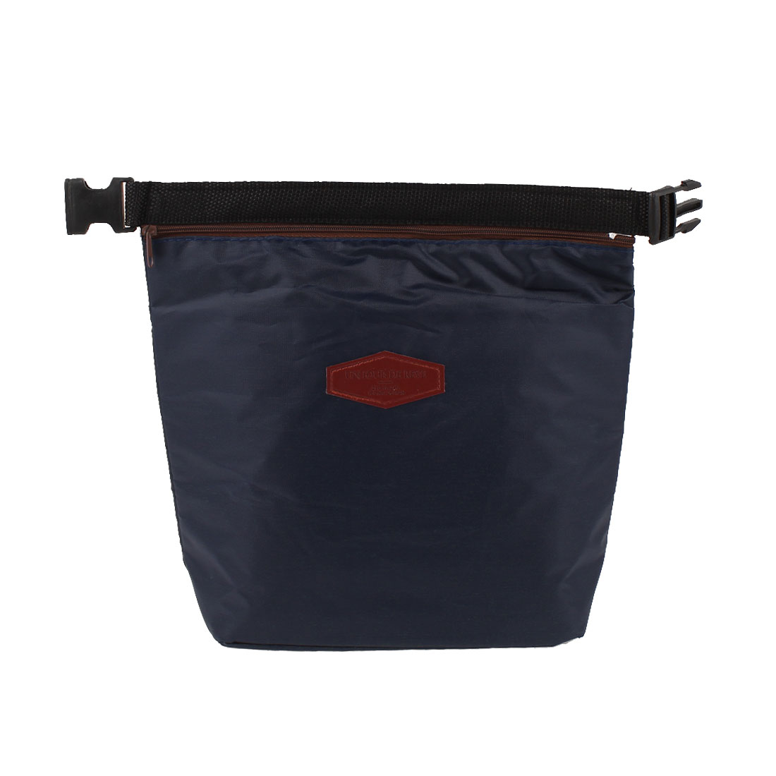 Insulated Nynon Zipper Closure Lunchbox Lunch Bag Dark Blue