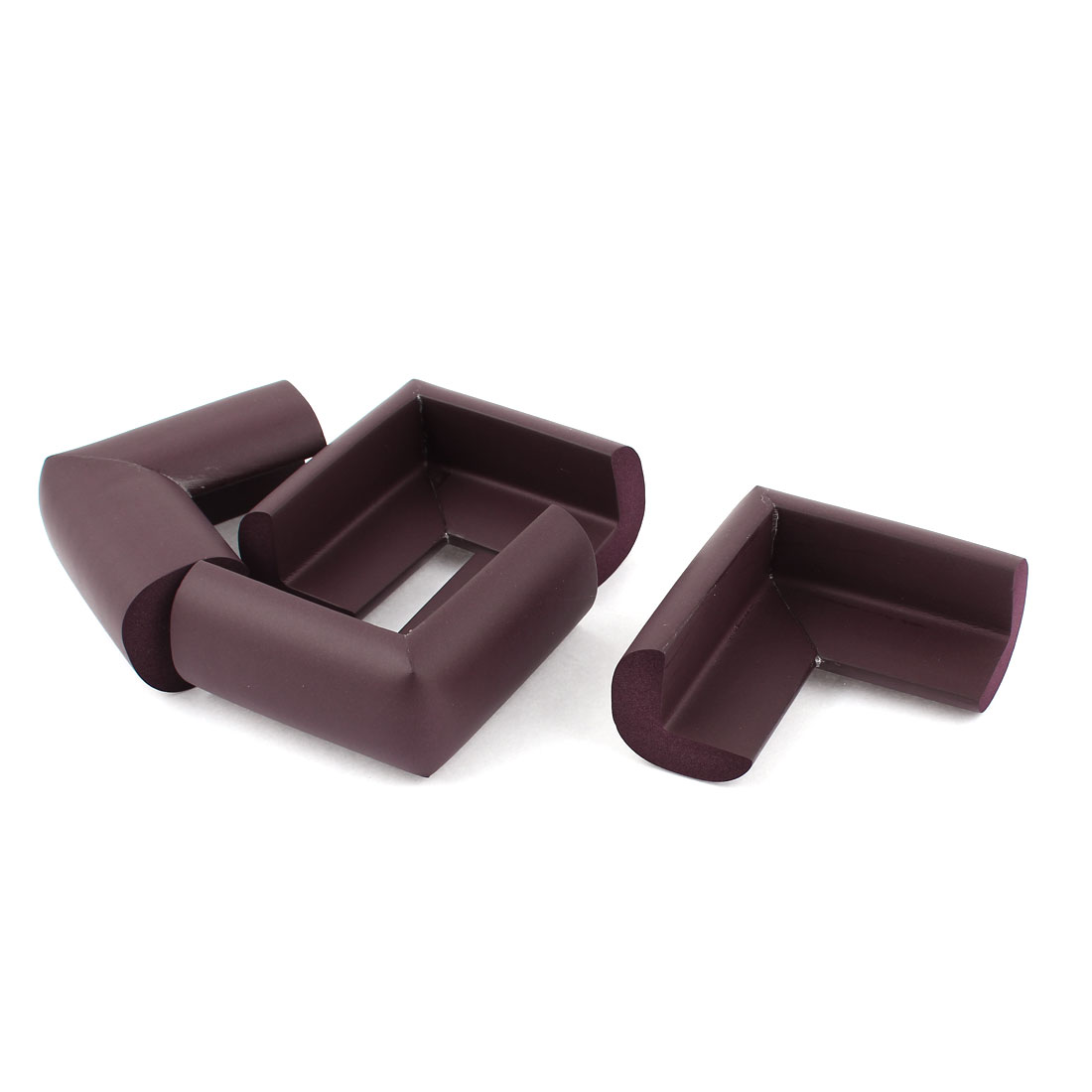 4 Pcs Chocolate Color Foam Table Desk Cupboard Corner Mat Cover Guard Protective Cushion