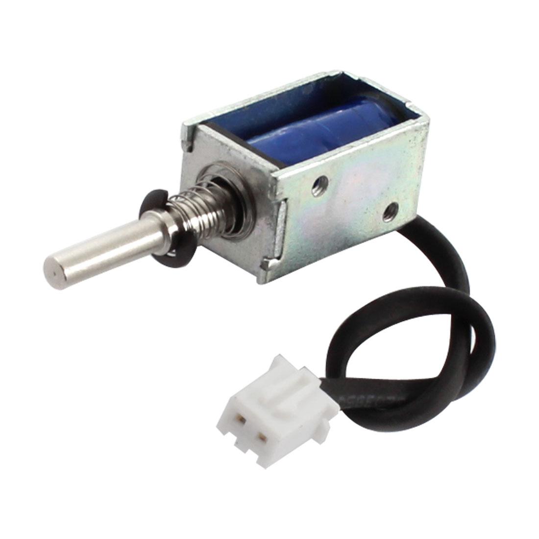 DC 12V 80g/3mm Open Frame Actuator Linear Push Pull Solenoid Electromagnet