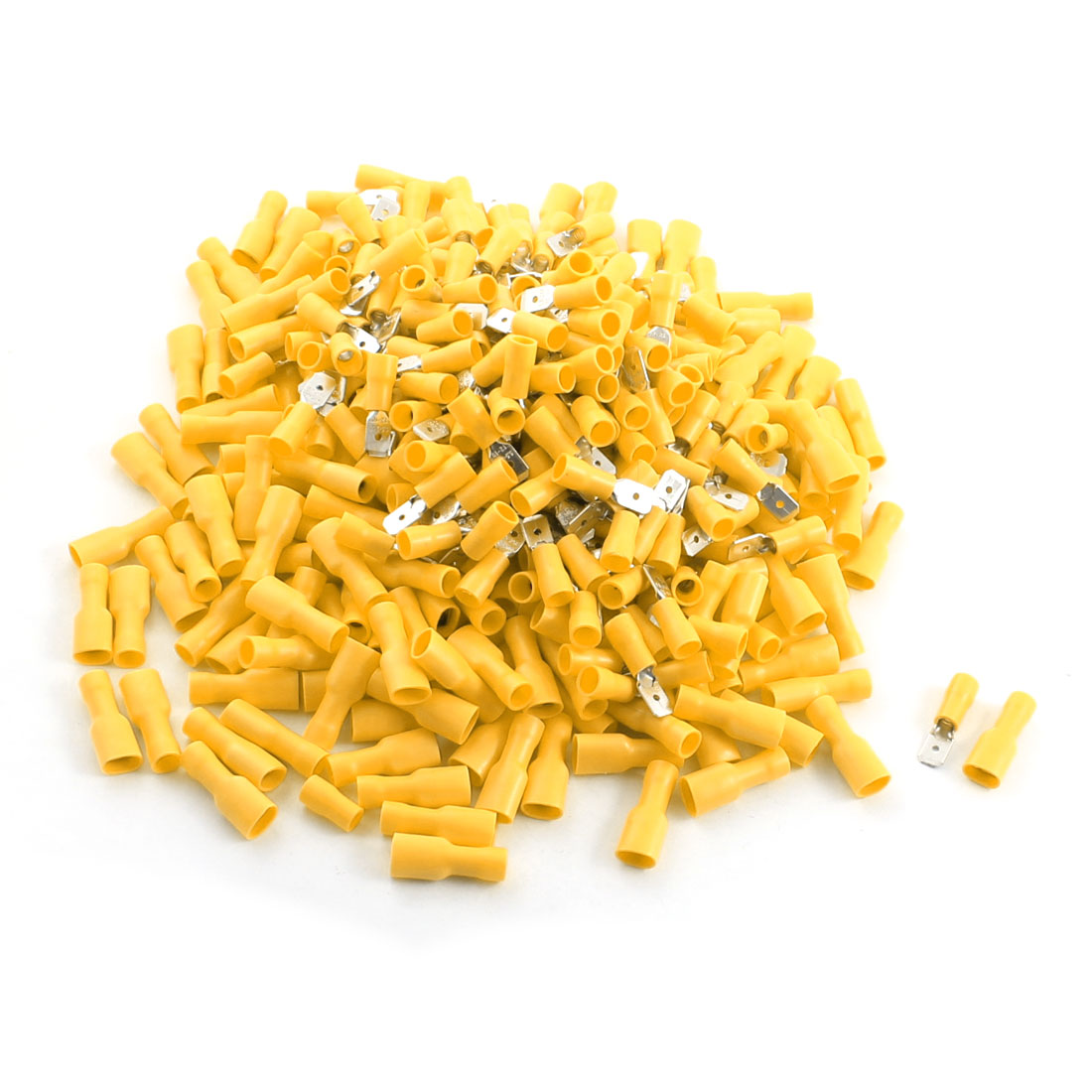 400Pcs Yellow Male Female Insulated Spade Crimp Terminals for AWG 12-10 Cable