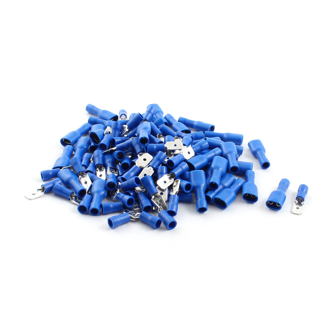 50 Sets FDFD2-250 ADD2-250 AWG 16-14 Cable Insulating Spade Crimp Terminals Blue