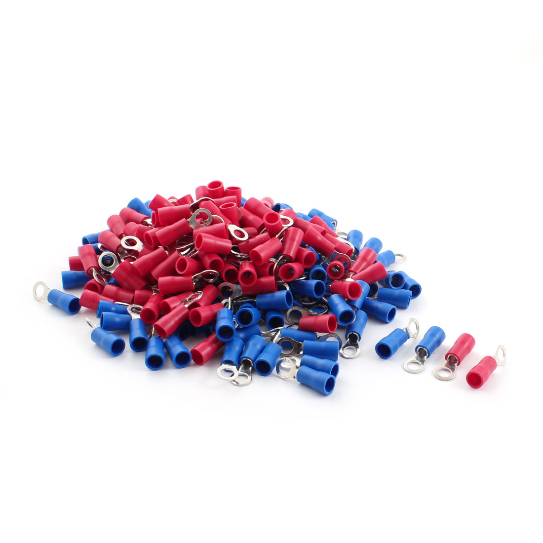 200Pcs RVS3.5-5 AWG 14-12 Cable Electric Wiring Insulating Ring Crimp Terminals