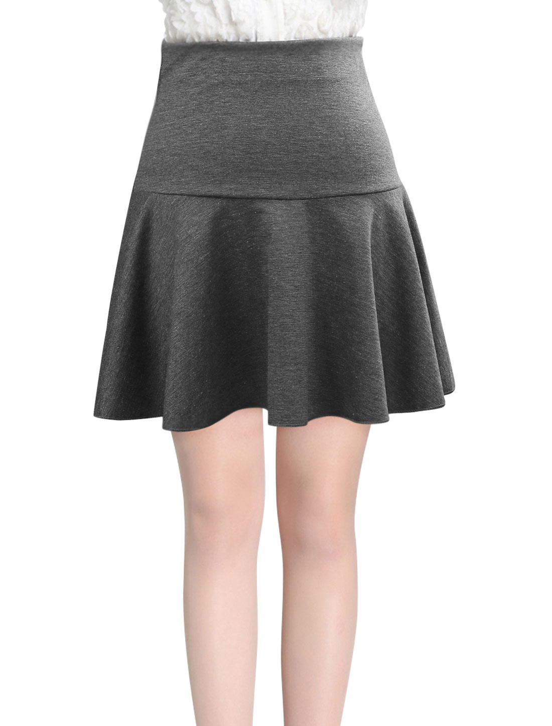 Lady Conceal Zipper Back Leisure Fit w Flare Skirt Gray S