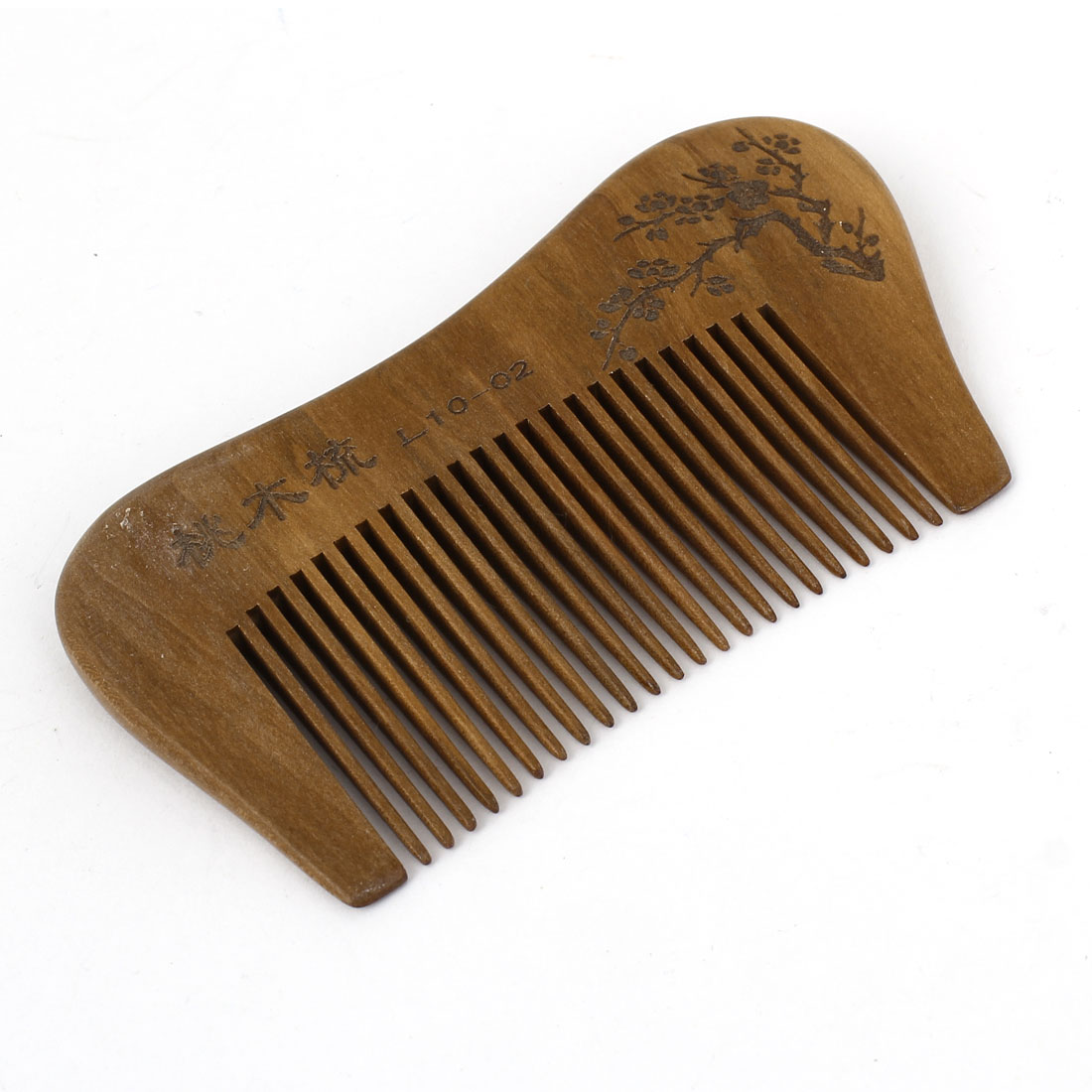 "3.7"" Length Handwork Carved Wood Narrow Tooth Hair Care Comb Unisex"