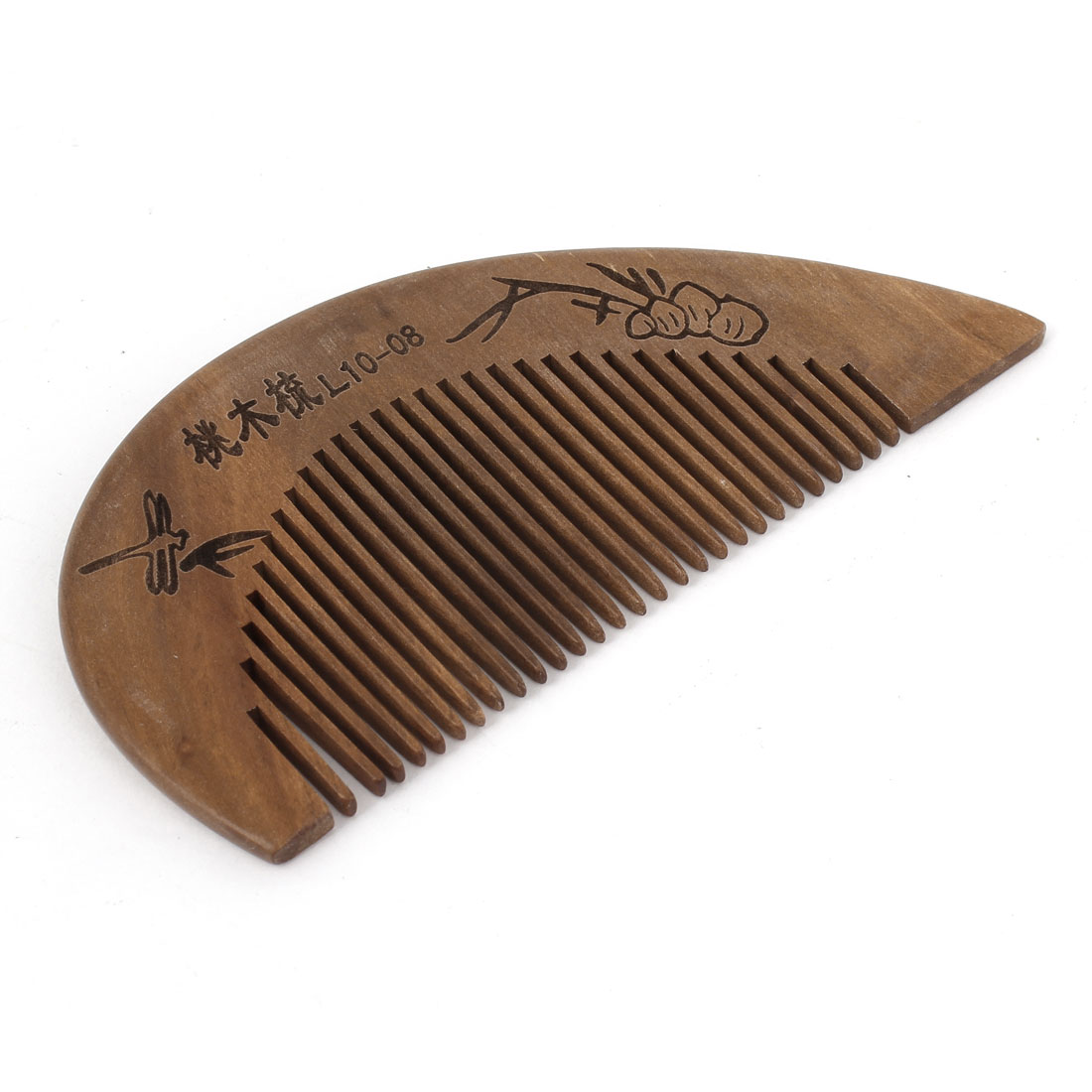 "4"" Length Handwork Carved Wood Narrow Tooth Hair Care Comb for Unisex"