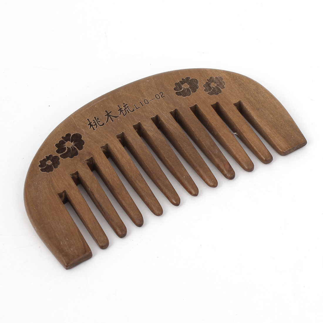 "3.7"" Length Handmade Carved Wood Wide Tooth Hair Care Comb for Unisex"