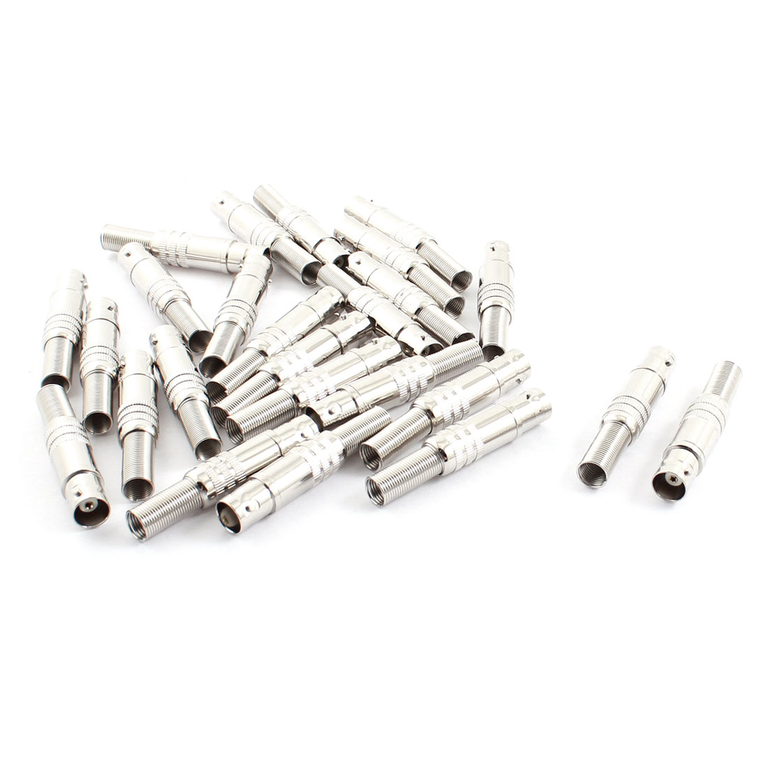 25pcs Solderless Spring RF Coaxial Cable BNC Female Adapter Connector