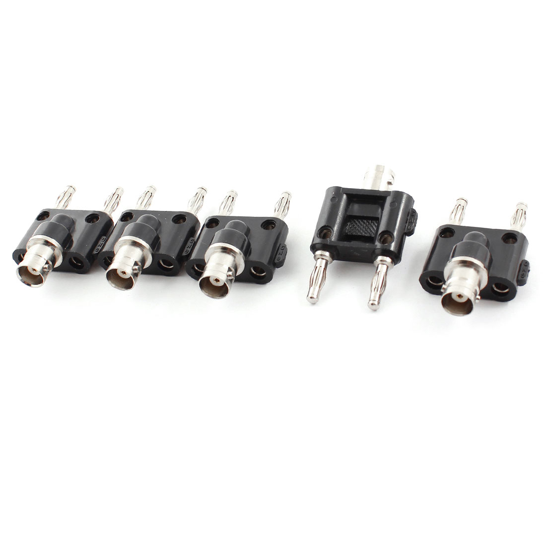 CCTV Camera BNC Female Jack to Dual Stacking Banana Plug Connector 5pcs