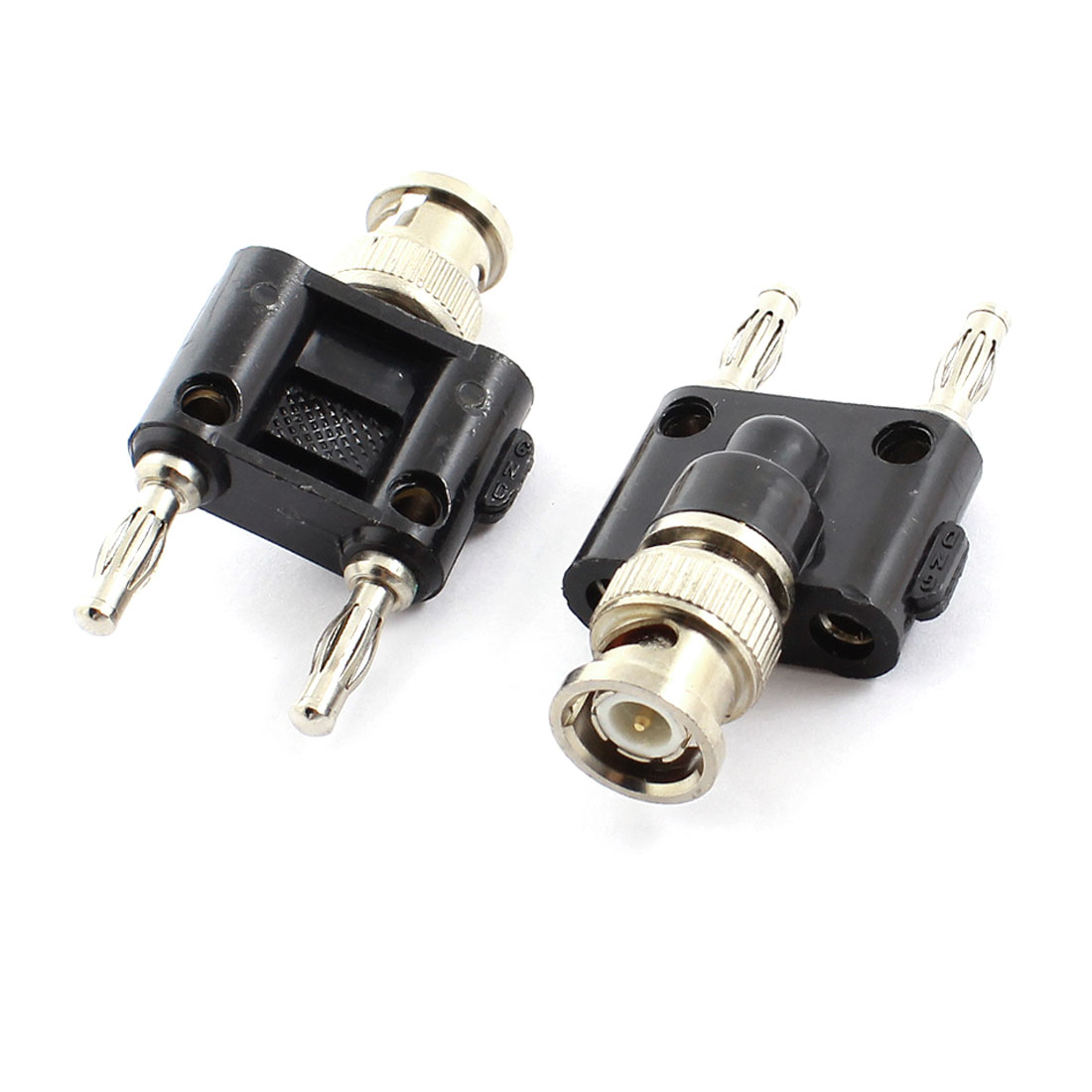 Audio Speaker Cable BNC Male to Dual Stacking Banana Plug Connector 2pcs