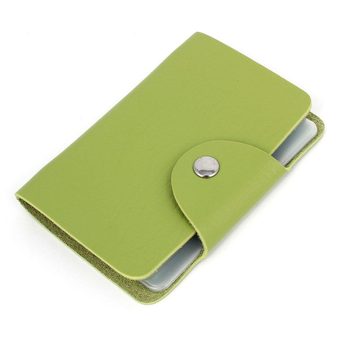 Light Green Faux Leather Business Credit VIP Card Pocket Case Holder