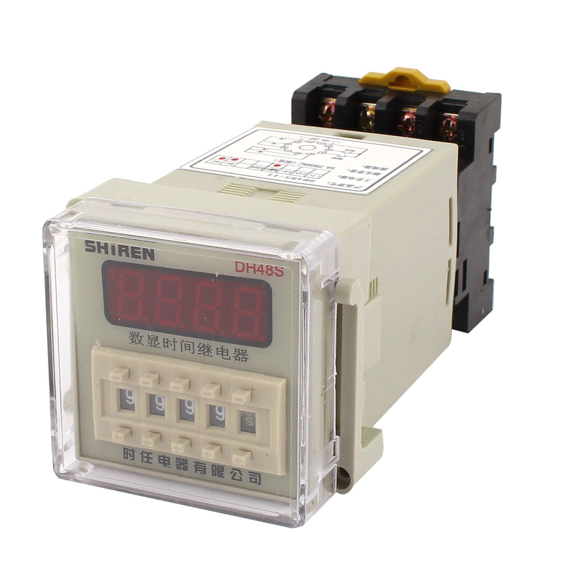 AC 110V 4PDT Digital Display 0.01s-9999h Time Delay Relay Timer DH48S-11