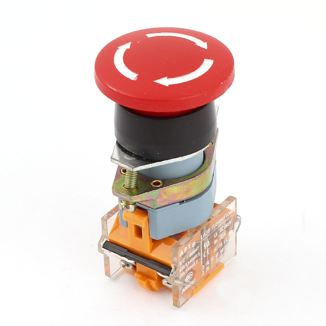 AC600V 10A 1NO 1NC Emergency Stop Latching Red Mushroom Push Button Switch