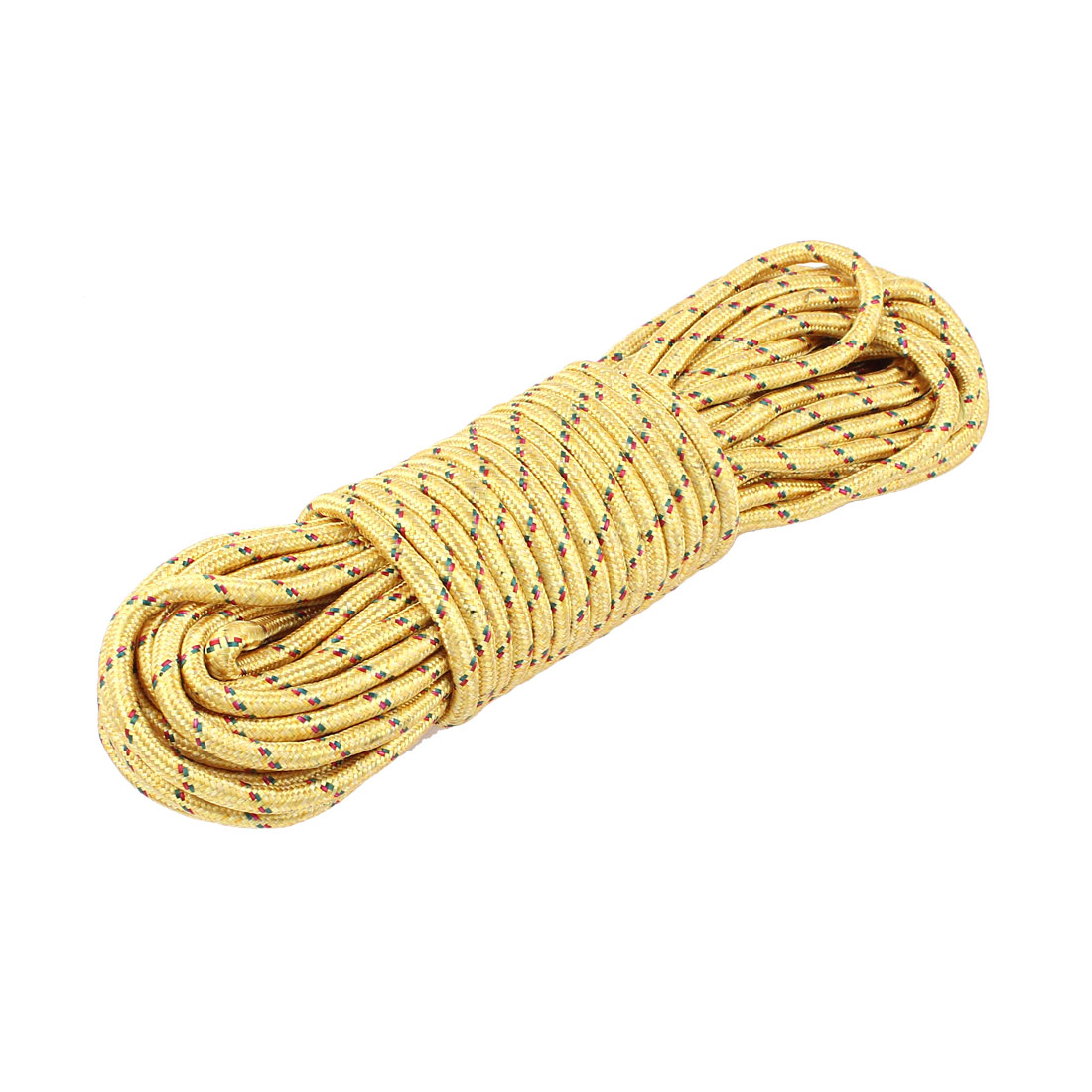 Outdoor Nylon Clothesline Washing Line Clothes Rope Yellow 20 Meters